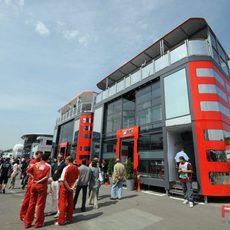 Paddock de Ferrari