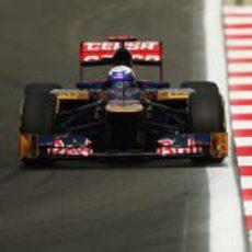 El STR7 de Daniel Ricciardo en el GP de Corea 2012