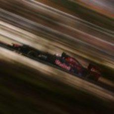 Jean-Eric Vergne a toda velocidad con su STR7 en Yeongam