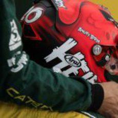 El casco de Heikki Kovalainen en esta temporada 2012