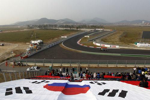 Un Caterham en el circuito de Yeongam, en Corea del Sur