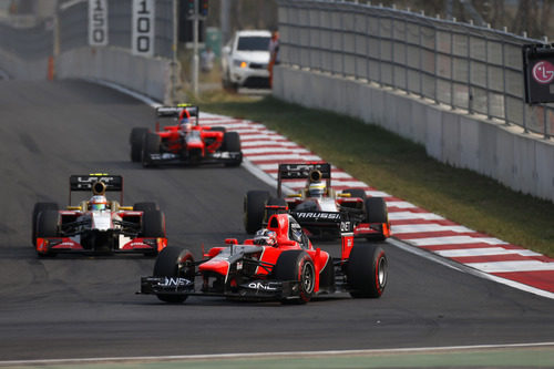 Lucha entre HRT y Marussia