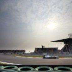 Michael Schumacher rueda en Corea