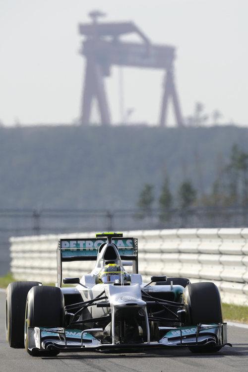Nico Rosberg en vuelta de formación