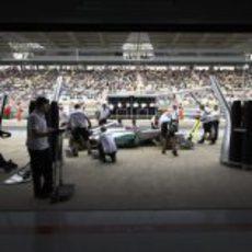 Cambio de neumáticos de Michael Schumacher