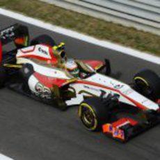 Narain Karthikeyan entra a box en el Gran Premio de Corea