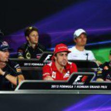 Rueda de prensa de la FIA del jueves en el GP de Corea 2012
