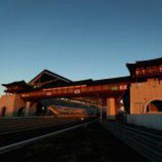 Edificio de boxes del circuito de Yeongam