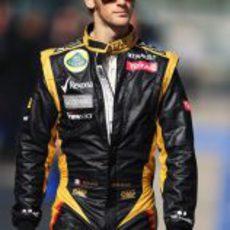 Romain Grosjean en el GP de Corea 2012