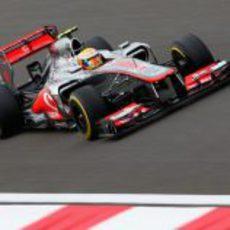 Lewis Hamilton en la clasificación del GP de Corea 2012