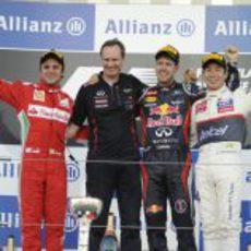 Podio del GP de Japón 2012