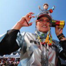 Una aficionada japonesa a Michael Schumacher