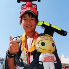 Un aficionado de McLaren en el circuito de Suzuka