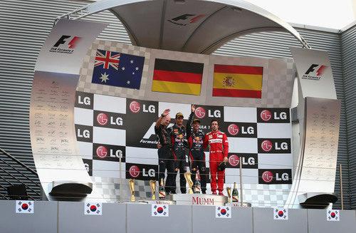 Podio del GP de Corea 2012