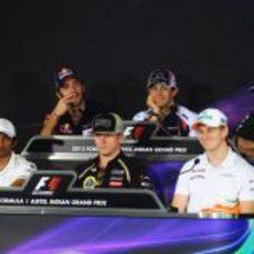 Rueda de prensa de la FIA el jueves en India