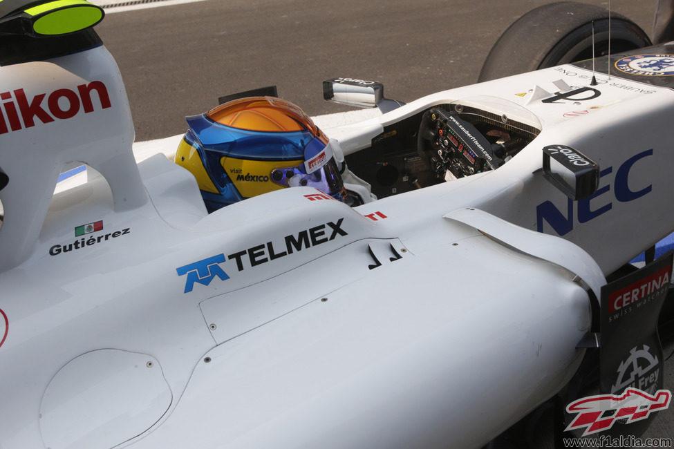 Esteban Gutiérrez rodó con Sauber en los Libres 1 del GP de India 2012