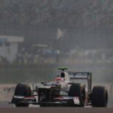 Sergio Pérez disputó los Libres 2 en el trazado indio