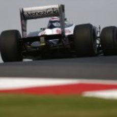 La trasera del FW34 de Pastor Maldonado