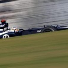 Pastor Maldonado rueda en el Buddh International Circuit