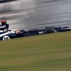 Pastor Maldonado rueda en el Buddh International Circuit