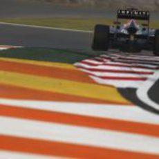 El alerón trasero de Sebastian Vettel