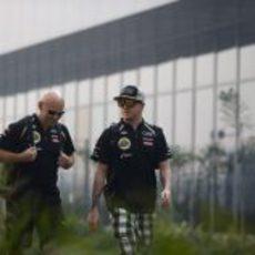 Kimi Räikkönen, antes de competir en India
