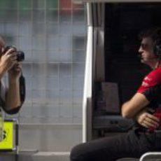 Graeme Lowdon, director ejecutivo de Marussia, posando