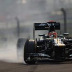 Heikki Kovalainen se pasa de frenada
