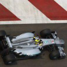 Nico Rosberg consiguió pasar a la Q3 con su Mercedes