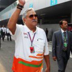 Vijay Mallya, presente en el Gran Premio de India
