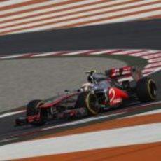 Lewis Hamilton clasificó tercero en India