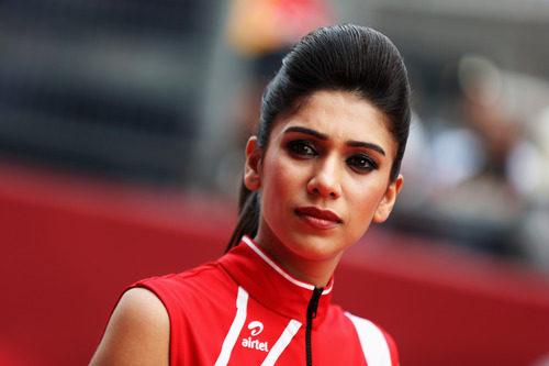 Belleza india en la carrera de Nueva Delhi