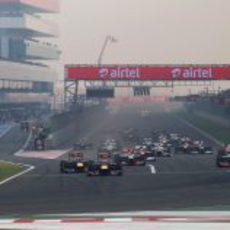 Salida del GP de India 2012