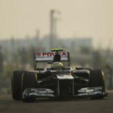 Bruno Senna disputa la clasificación del GP de India 2012