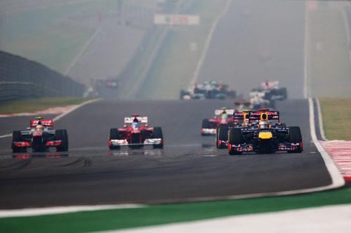 Sebastian Vettel lidera el GP de India 2012