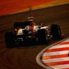 Sebastian Vettel en la carrera del GP de India 2012