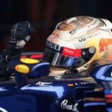 Sebastian Vettel gana del GP de India 2012