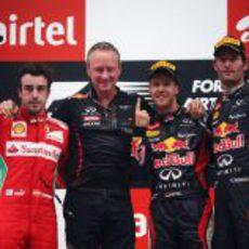 Podio del GP de India 2012