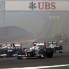 Salida del Gran Premio de India 2012