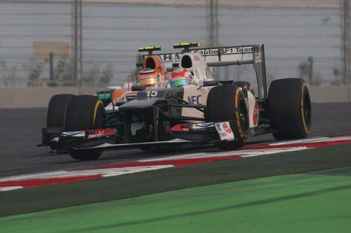 Sergio Pérez y Nico Hülkenberg en India