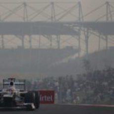 Kamui Kobayashi con el C31 en India