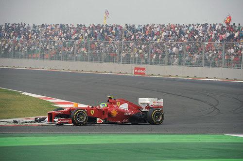 Felipe Massa finaliza sexto el GP de India 2012