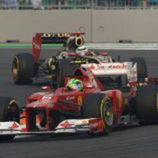 Felipe Massa mantuvo a raya a Kimi Räikkönen durante toda la carrera