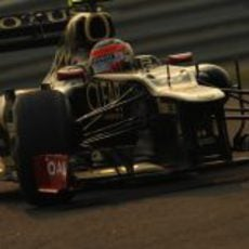 Plano de Romain Grosjean durante el GP de India 2012