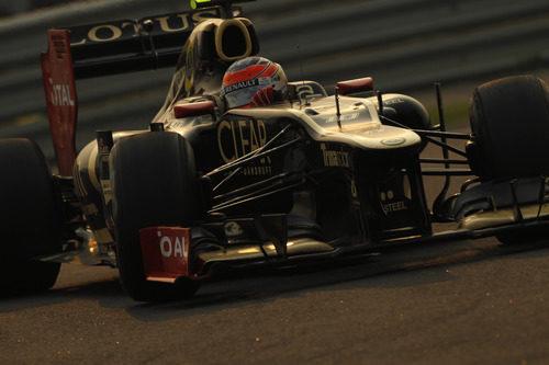 Plano de Romain Grosjean durante el GP de India 2012
