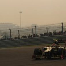 Romain Grosjean terminó noveno en India
