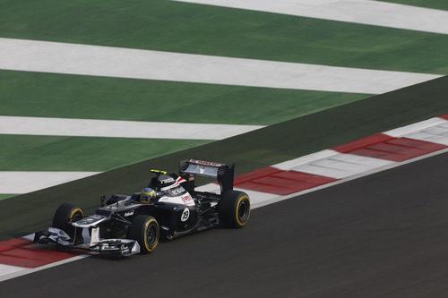 Bruno Senna logró un punto en el GP de India 2012