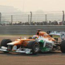 Paul di Resta solo pudo ser 12º en India