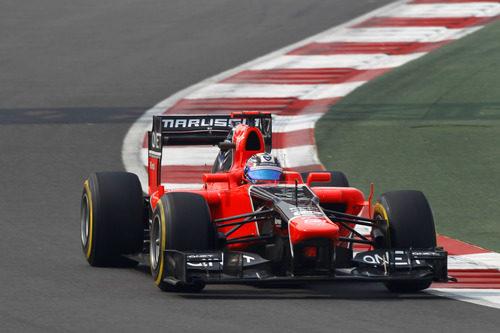 Timo Glock clasificó por delante de los HRT en India