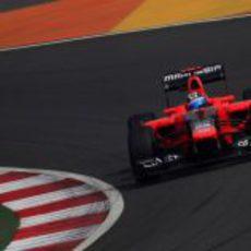 Timo Glock saldrá por delante de su compañero de equipo en India